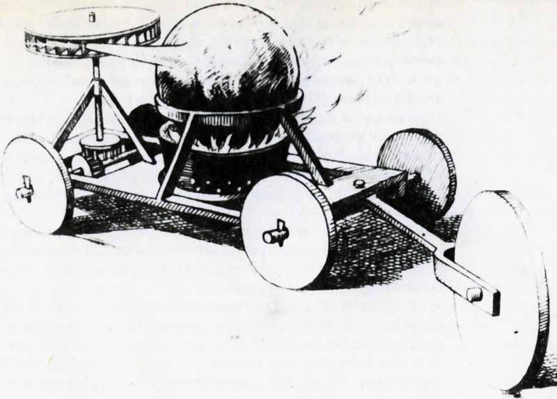 Verbiest tarafından 1672'de çizilen buhar çarklı oyuncağın resmi
