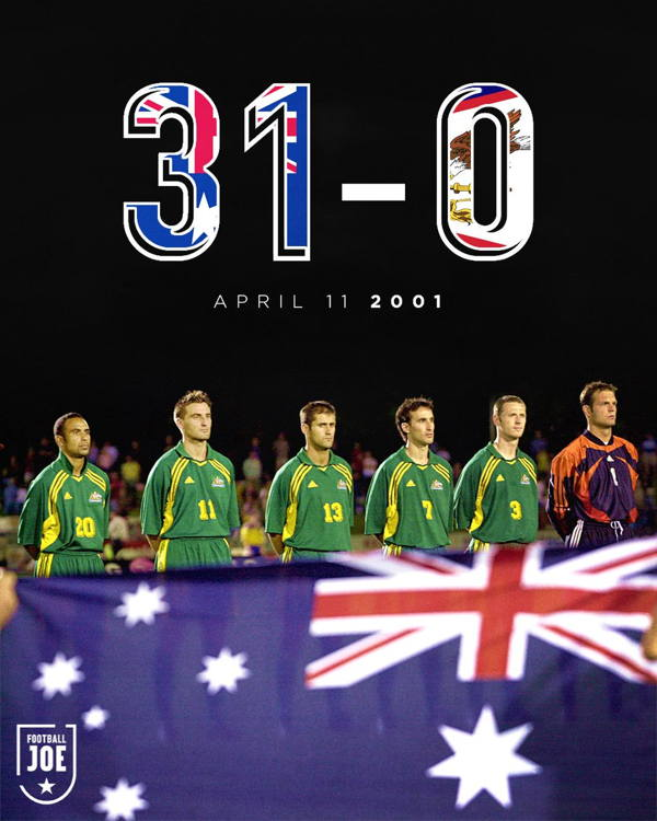 Uluslararası Bir Futbol Maçında Alınan En Farklı Galibiyet Rekoru  31-0
