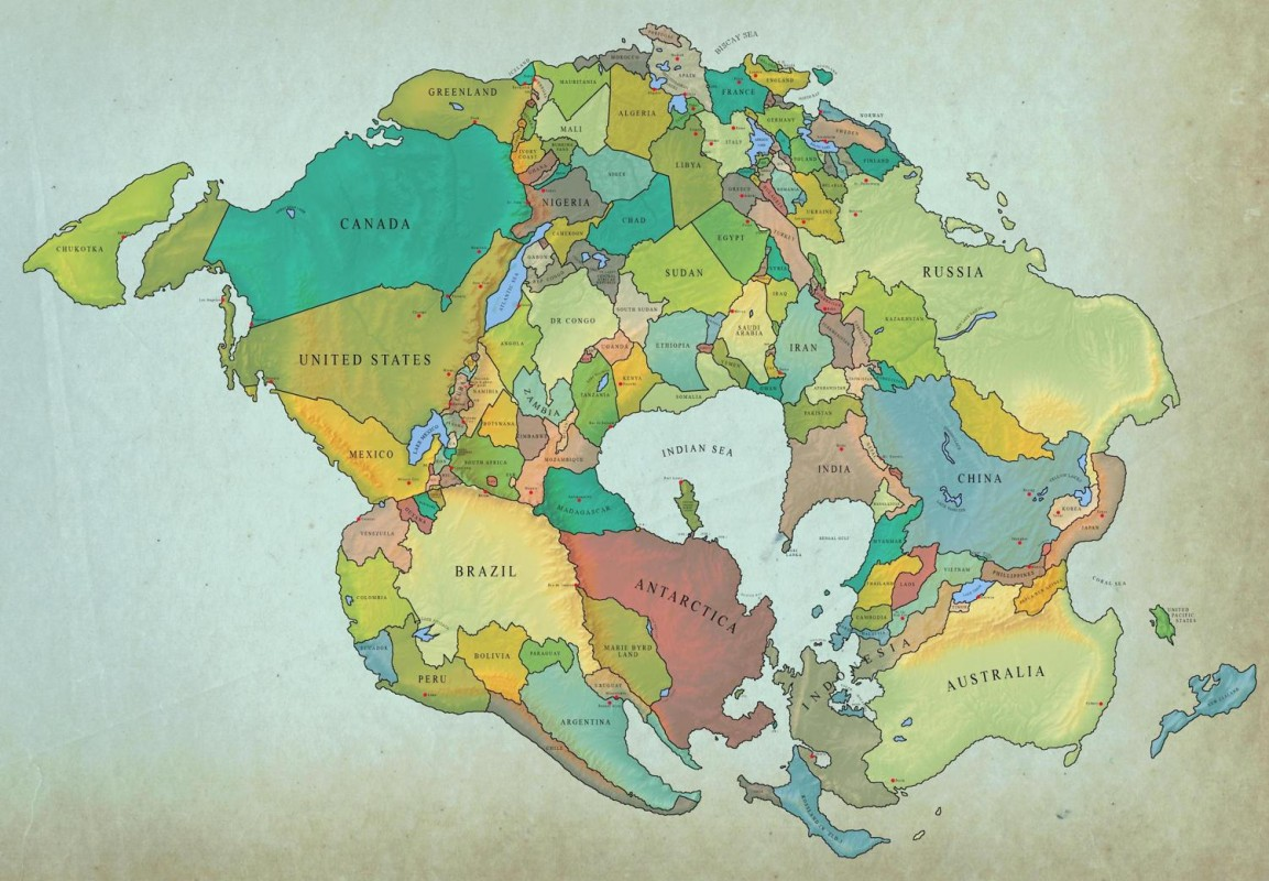 Tek Kıta : Pangea (Süper Kıta)