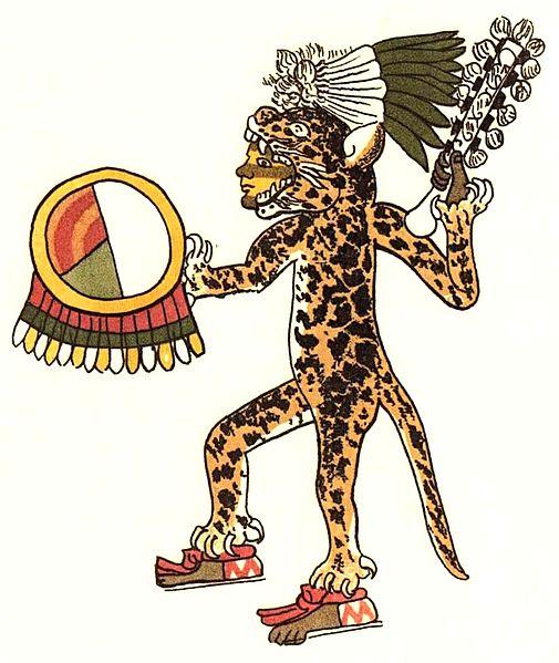 Aztek jaguar savaşçısı