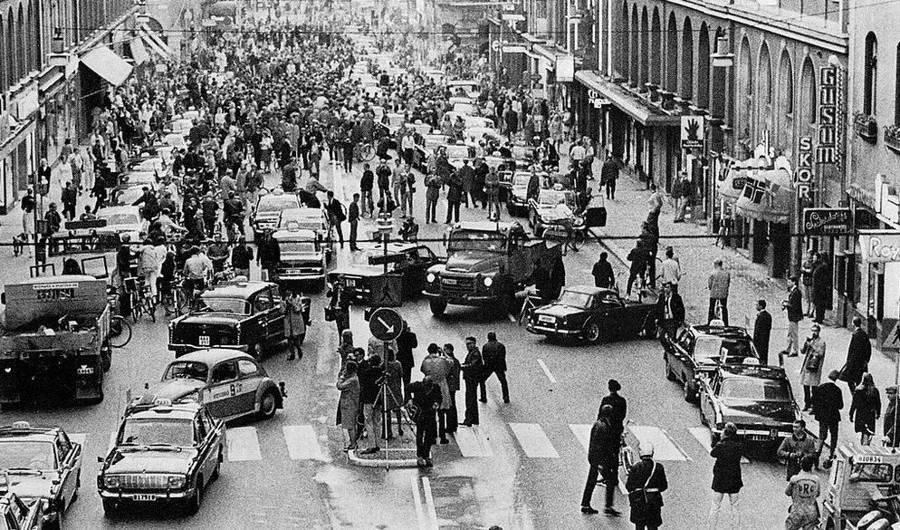 İsveç'te Trafik Akışının Sol Şeritten Sağ Şeride Geçirildiği Gün - H-Day