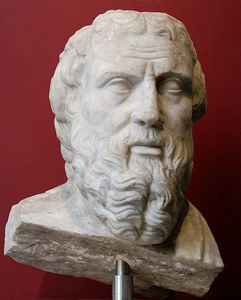 """""""Tarih disiplininin babası"""" olarak görülen Herodot (MÖ 484 – MÖ 425)"""