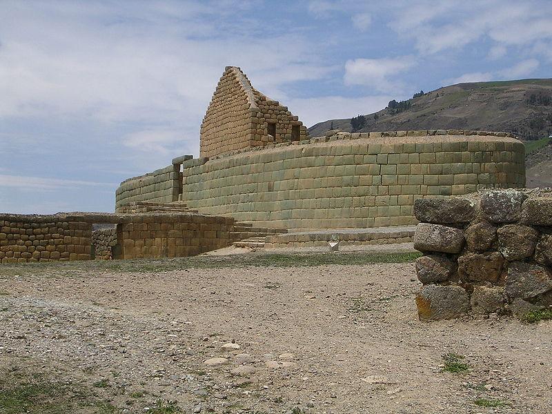 İnka taş işçiliğinden bir örnek. Ekvador'daki Ingapirca kalıntıları