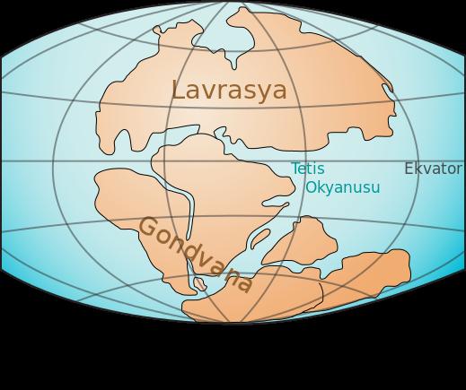 Gondvana (Pangea'dan Sonra Güney'de Kalan Parça)