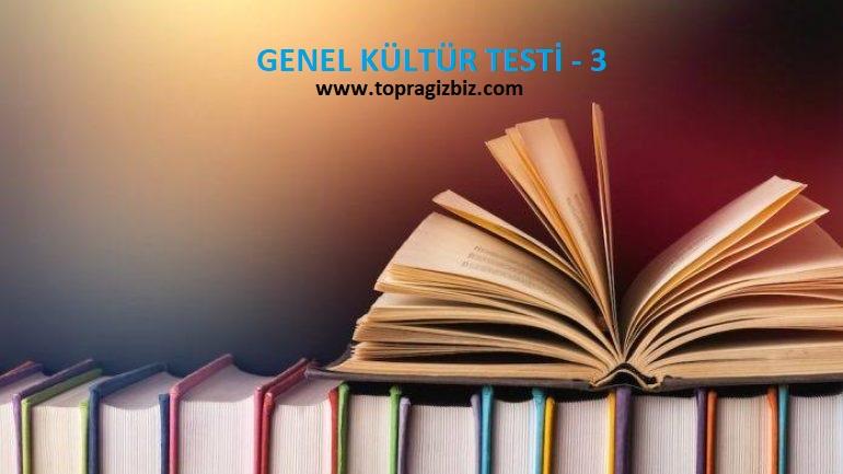 Genel Kültür Testi-3
